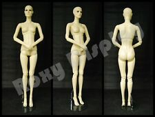 Female Fiberglass Mannequin with Two interchangeable Heads Display #Mz-Abf1
