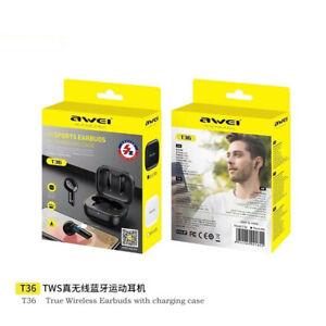 AWEI T36 True Wireless Touch IPX4 Waterproof Stereo Dual Mode Bluetooth Headset