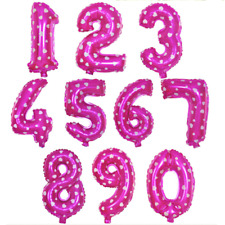 """Large Foil Number Balloons 40"""" 100cm Rose Helium Birthday Anniversary Decoration"""