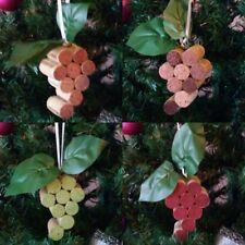 Handmade Unique Grape Bunch Recycled Wine Cork Ornaments - LIMITED QUANTITY!