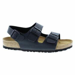 Birkenstock Milano Black Birko-Flor Mens Sandals