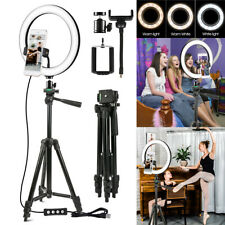 """10"""" Video  LED Ring Light with Camera Tripod Stand & Phone Holder  Ringlight Kit"""