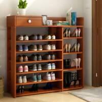 7 Tiers Large Shoe Rack Storage Shelf Display Stand Organiser Unit Cabinet 105cm