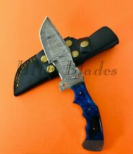 HNF CUSTOM HANDMADE DAMASCUS STEEL TRACKER  HUNTING KNIFE | RESIN HANDLE TK 1