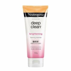 Neutrogena Deep Clean Brightening Foaming Cleanser, White, 100 g | Free Shipping