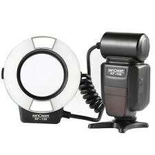 K&F Concept KF-150 i-TTL Macro Ring Flash Light Speedlite 6 Adapters for Nikon
