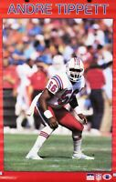 Vintage 1987 ANDRE TIPPETT 34 x 22 New England Patriots NFL Starline Poster RARE
