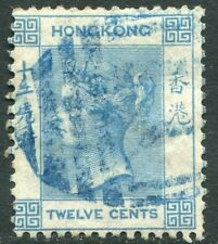 BRITISH POST OFFICES IN JAPAN-1863-71 12c  Blue Sg Z36 FINE USED V21608