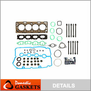Head Gasket Set Bolts Fit 09-11 Chevrolet Aveo Pontiac G3 1.6 1.8 LXV LUW