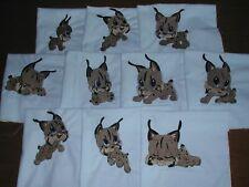 Machine Embroidered Baby Lynx Quilt Blocks