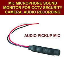 Mic Microphone Sound Monitor For CCTV Security Camera,audio recording