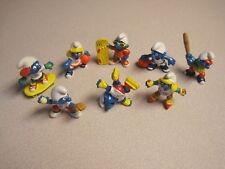 McDonalds 1997 Sports Smurfs  (Peyo) -  Foreign -  Complete Set - Loose