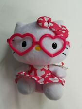Ty Hello Kitty Beanie Babies collection Sanio 6 in pink glasses hearts