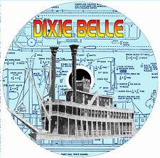 "Model Boat Plans OL 46 1/2"" Steam Radio Control Mississippi Stern Wheeler  Plans"