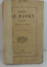 Pensées de Bacon Kepler Newton et Euler sur la religion et la morale, 1870