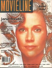 Movieline Magazine - September 1989 - Debut Issue - Jane Fonda - Tim Burton