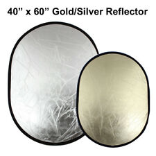 """40x60"""" Gold/Silver Reflector Reversible Oval Photography Light Photo Studio"""