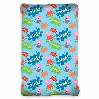 Peppa pig Bleu Groin Simple Ajusté Coton Drap - Enfants