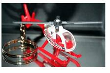 Custom Key Chain Helicopter white/red