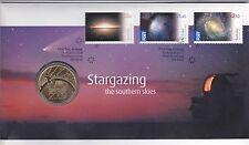 2009 Australia PNC, $1 Unc Coin, International Year of Astronomy, Stargazing