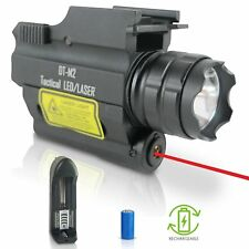 DefendTek Rechargeable Rail Mounted Red Laser Sight Combo Tactical Led