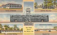 Fort Wayne Indiana Baer Field Airport Multiview Antique Postcard K20499