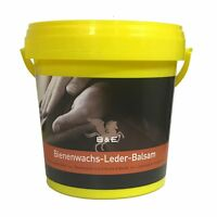 B & E Bienenwachs-Lederpflege-Balsam 1000 ml - Leder Glattleder Pflege Wachs