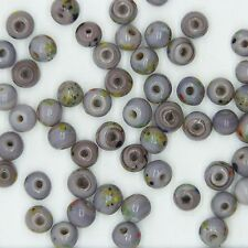 Glass Beads Lavender Opaque Round 6mm. Pack of 50. Made in India.