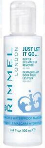 Rimmel Eye Makeup Remover Just Let It Go 3.4 fl oz Takes Off Waterproof Mascara