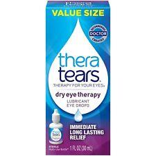 New Thera Tears Dry Eye Therapy Lubricant Eye Drops 1 Fl. OZ. Bottle
