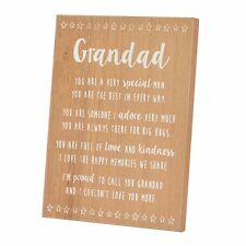 Special Grandad Sentiments From The Heart Freestanding Wooden Plaque Gift