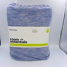 Room Essentials 2 Piece Sheet Set Twin Size Sapphire Blue B230