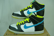 "New Mens 11 NIKE ""Dunk High AS PRM"" White Black Blue Glow Basketball Shoes $95"