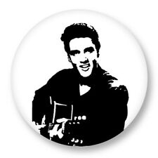 Pin Button Badge Ø38mm Elvis Aaron Presley The King Memphis Tennessee Rock