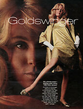 Goldswinger Coat Throw-Away Gold Party Dress ACCENT Discotheque 1968 Print Ad