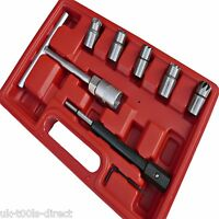 7pc Diesel Injector Seat Cutter Set**Universal**Injector Re-Face Tool**