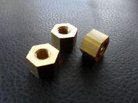 AUSTIN J40 - VINTAGE PEDAL CAR - SET OF 3 BRASS WHEEL NUTS - J40 RESTORATION