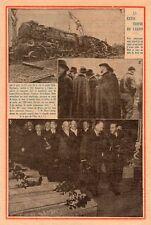 LAGNY CATASTROPHE TRAIN EXPRESS PARIS NANCY ACCIDENT LAMY  IMAGE 1933 OLD PRINT