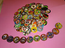 Pogs 100 SKULLS CROSS BONES POISON + 10 Plastic Poison Slammers * All Different