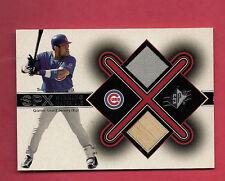 RARE 2001 SPX # SS CUBS SAMMY SOSA GAME-USED JERSEY / BAT CARD