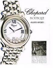 PUBLICITE ADVERTISING  2000   CHOPARD montres BOUTIQUE