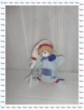 B -  Doudou Plat Marionnette Ours Bleu Notes de Musique Doudou et Compagnie