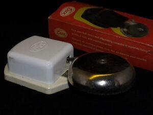 Vintage DUX Electrical Door Bell White 24V made in GDR in original Box NOS