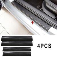 4X 3D Carbon Fiber Look Car Door Plate Sill Scuff Cover Sticker Anti BB