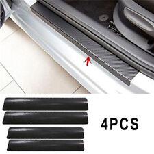 4pcs 3D Carbon Fiber Look Car Door Plate Sill Scuff Cover Sticker Anti Scratch T