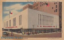 Postcard The New FW Woolworth Company Store Houston Texas TX