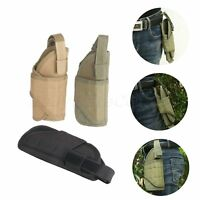 1 Pc Tactical Hunting Molle Pistol Gun Pouch Holster Wrap-around Design Outdoor