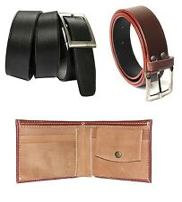 Combo of Brown wallet,Black belt and Brown Belt at Best Price with free shipping
