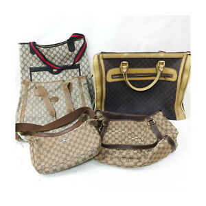 Gucci Canvas PVC Shoulder Bag Tote Bag Hand Bag 5 pieces set 525509