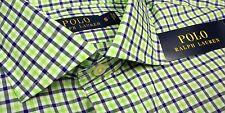 NWT $89 Polo Ralph Lauren Long Sleeve Shirt Mens M L XL Green Blue Plaid Check